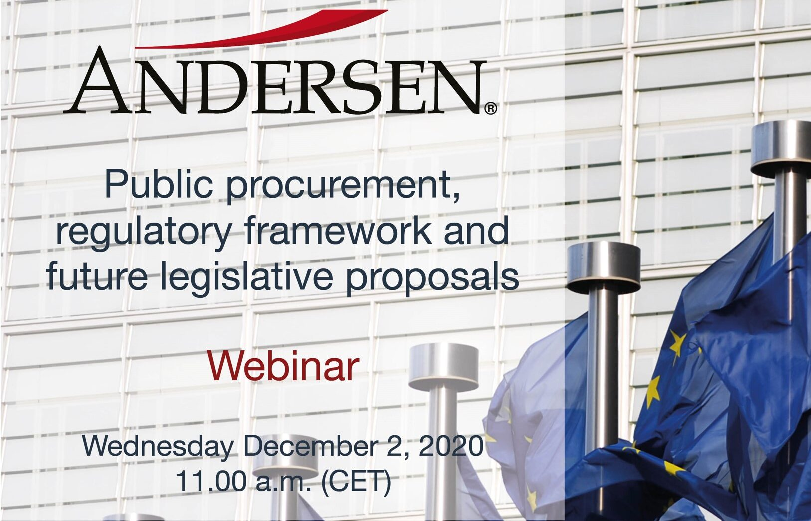 WEBINAR | Public Procurement | December 2, 2020 – 11.00 CET